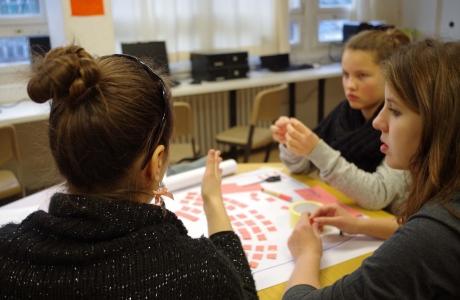Fashionperformance im Zirkusstyle in der Evangelischen Schule Berlin Zentrum